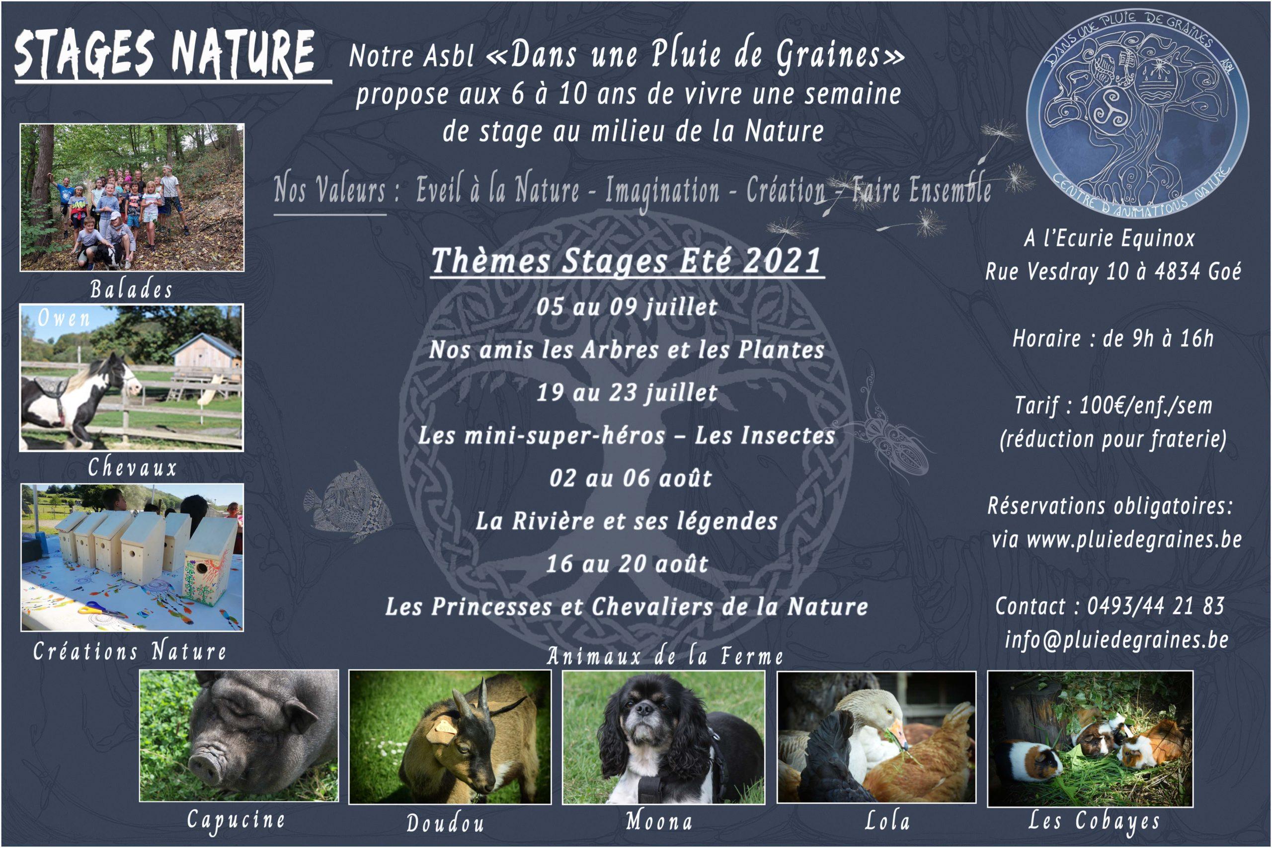 """Stage Nature """"Nos amis les Arbres et Plantes"""""""